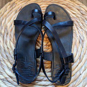 Vagabond - Black Leather Sandal - 36